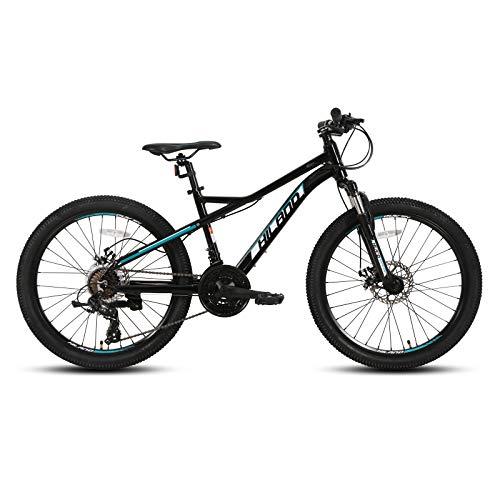 Hiland Bicicleta de montaña de 27,5 pulgadas, 21 velocidades, juvenil, con horquilla de suspensión, Urban Commuter City, color negro