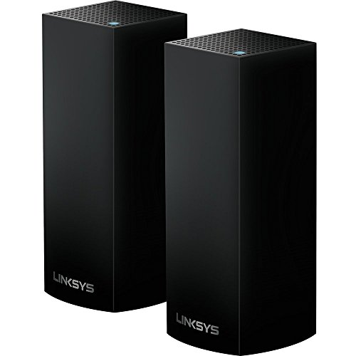 Linksys Velop Mesh Router (Tri-Band Home Mesh WiFi System for Whole-Home WiFi Mesh Network) 2-Pack, Black (Renewed)