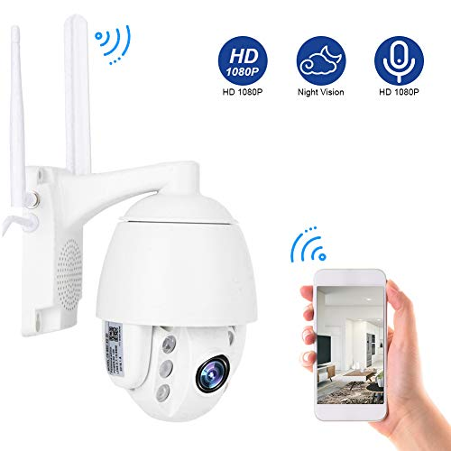 3G / 4G 1080P Sicherheitsüberwachungskamera System CCTV, Bidirektionale Audio Dome IP Kamera, Nachtsicht Überwachungskamera Autofokus(EU)