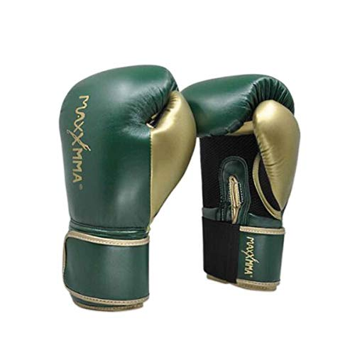 WENPINHUI Boxing Gloves, Red Muay Thai Boxing Gloves, Sanda Gloves Training Sandbag Gloves, Professional Boxing Gloves Pink/Green/Black - The Best Gift (Color : Green, Size : 16oz)