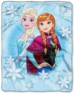 Disney Frozen Elsa and Anna Girls Soft Throw Blanket