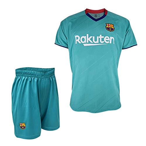 Conjunto Camiseta y pantalón 3ª equipación FC. Barcelona 2019-20 - Replica Oficial con Licencia - Dorsal Liso - Niño Talla 2