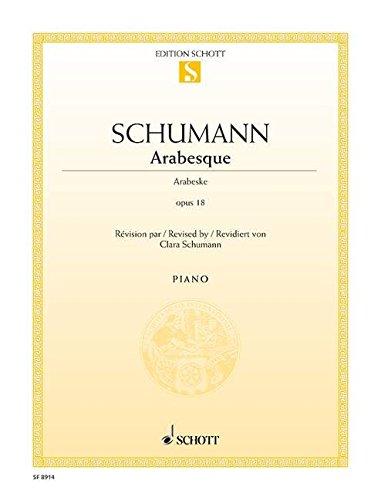 Arabesque: op. 18. Klavier. Einzelausgabe.