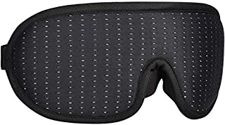 Sleep Eye Mask for sleeping, Travel, Yoga, Nap, 3D Contoured Cup Sleeping Mask & Blindfold with Nose Baffle for Men Women, Concave Memory Foam Night Sleep Mask, Soft Comfort Eye Shade Cover for, Black