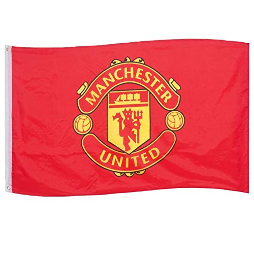 Manchester United FC Official Soccer Gift 5x3ft Crest Body Flag