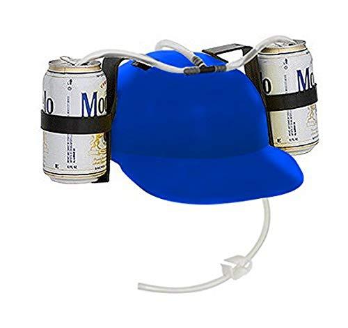 EZ DRINKER Beer and Soda Guzzler Helmet (Blue)