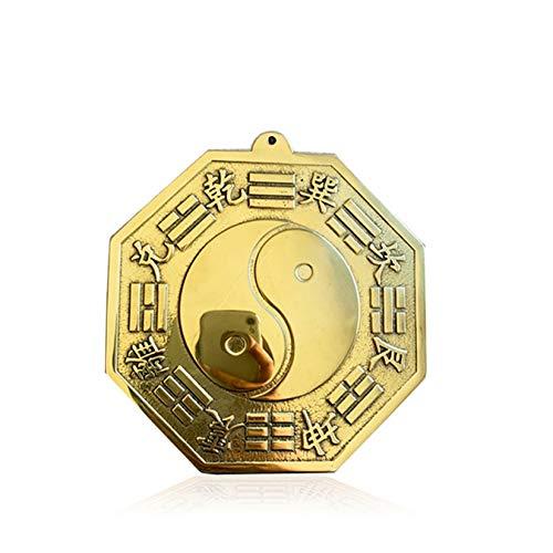 Pevfeciy Feng Shui Artículo Contenido Doce Soporte Fortune Feng Artículos de Agua Feng Shui Artículo Figurine Espejo cóncavo Convex Mirror Mercado/Entrada Figurine Bouncing Difusión de Retorno,22cm