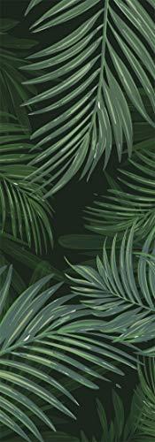 Deco&Fun - Alfombra Vinílica Verde Nature Palm 200x140cm - Alfombra PVC Alfombra vinílica Cocina- Alfombra vinílica salón - Alfombras de Vinilo