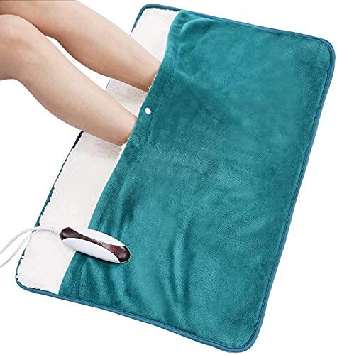 Calentador de pies con almohadilla eléctrica extra grande tamaño 50 * 80 cm aplicación de cuerpo completo para calentadores de pies, espalda, hombros y piernas con función de apagado automático