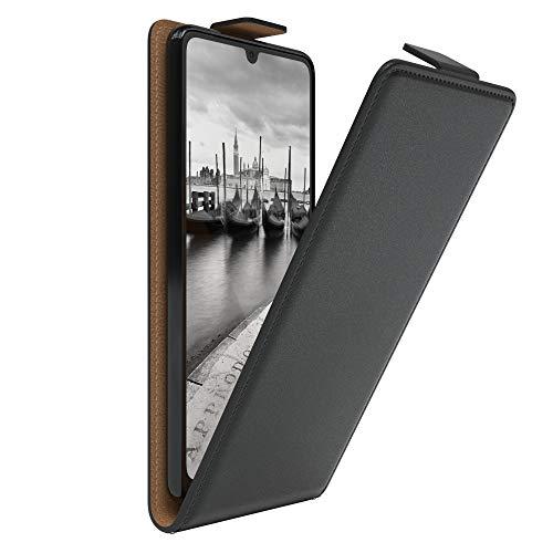 EAZY CASE Hülle kompatibel mit Samsung Galaxy A31 Flip Cover zum Aufklappen, Handyhülle aufklappbar, Schutzhülle, Flipcover, Flipcase, Flipstyle Hülle vertikal klappbar, aus Kunstleder, Schwarz