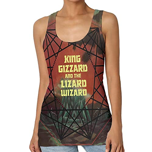 maichengxuan King Gizz-ard and Liz-ard Wizard Nonagon Infinity Tank Top Workout Gym Blusa sin mangas para mujer