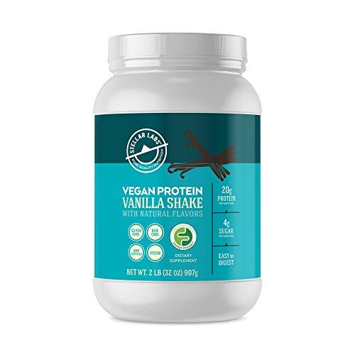 Stellar Labs Raw Vegan Plant Protein Vanilla Powder