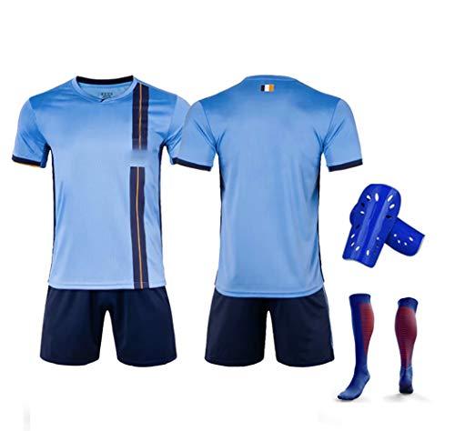 Pirlo 10 David Villa 7 Ring 8 Fußballuniform, 19-20 New Yorker Heimfußball T-Shirt Shorts Kits, Fußballuniformen für Männer und Kinder-nonumber-S