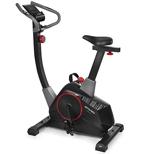 Spokey Gradior - Bicicleta estática, Resistencia Magnética, Volante de inercia 8kg, color negro