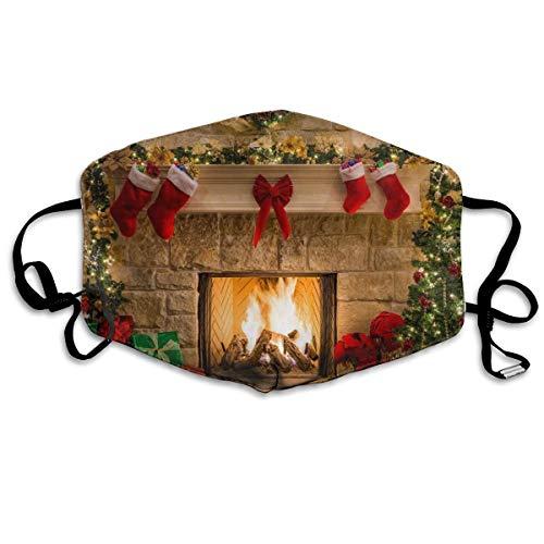 Chimenea interior de Navidad Chimenea Árbol de Navidad Silla verde, manta roja y pared de regalo, puede lavar el polvo código M, lavable con alambre ajustable para la nariz y orejas.