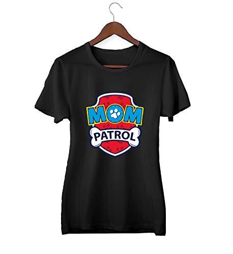 Mom Paw Patrol Logo_KK015723 Shirt T-Shirt Tshirt for Women Damen Gift for Her Present Birthday Christmas - Women\'s - 2XL - Black