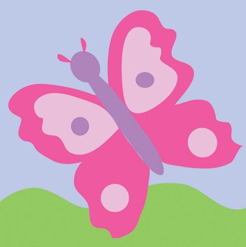 DMC - Kit per Ricamo a Mezzo Punto, 15 x 15 cm, Motivo: Farfalla, Rosa
