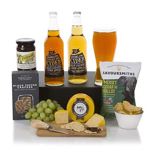 The Cider & Cheese Hamper - Cider Hamper - Gift Basket Hampers For Him or For Her - Free UK Delivery
