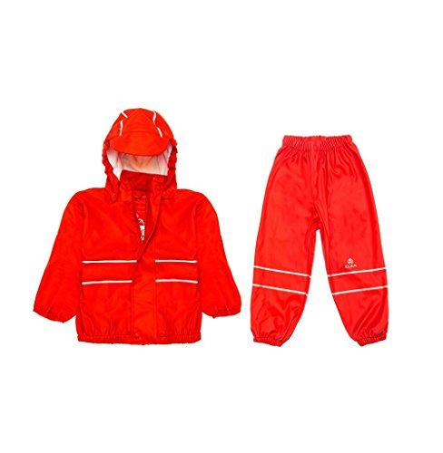 Elka Regenpak Regenbroek + Slicker voor kinderen, gestreept en effen kleur Kleuren vele maten 220g/Polyester