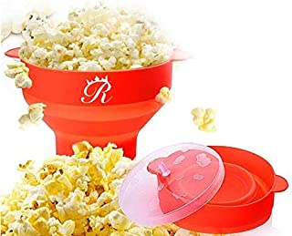 My Pick ae Microwave Popcorn Popper | Silicone Popcorn Maker | Collapsible Popcorn Bowl | Popcorn Machine Maker | BPA Free...