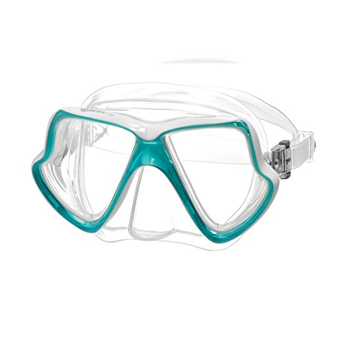 Mares Wahoo Máscara De Buceo, Unisex Adulto, Clear/White, One Size