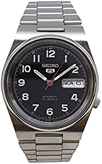 Seiko 5 automatic 21 Jewels Calendar black dial Stainless steel watch