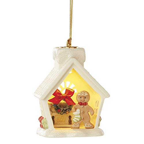 Lenox 886877 Light-Up Gingerbread House Ornament