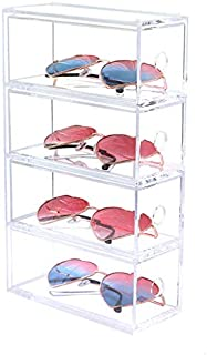 SODIAL Multi-Layer Lipstick Box Acrylic Lipstick Holder Case Cosmetics Storage Makeup Glasses Organizer Nail Polish Display Stand Rack 4 Layer