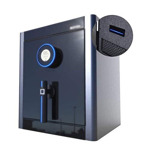 CHUXJ Electronic Startseite Safe Home Anti-Diebstahl-Startseite Sichere Großvolumige Safe Kennwort Fingerabdruck Nachttisch Schrank Tresore (Color : Black, Size : 39 * 35 * 45cm)