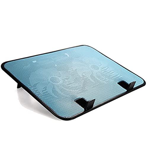 Soporte para computadora portátil Enfriador para computadora portátil de 14 pulgadas 5V Ventilador doble USB Almohadilla de enfriamiento para externa Soporte delgado Alta velocidad silenciosa