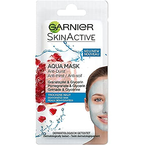 Garnier Skin Active Rescue Mask - Mascarilla Anti-Sequedad con Granada y...