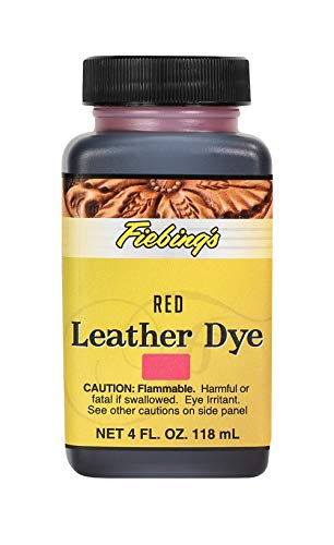Fiebing's Leather Dye - Alcohol Based Permanent Leather Dye - 4 oz - Red