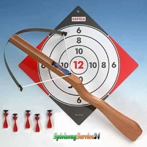 Unbekannt Armbrust für Kinder, Kinderarmbrust mit 6 Sicherheits-Pfeilen und Spieltipps