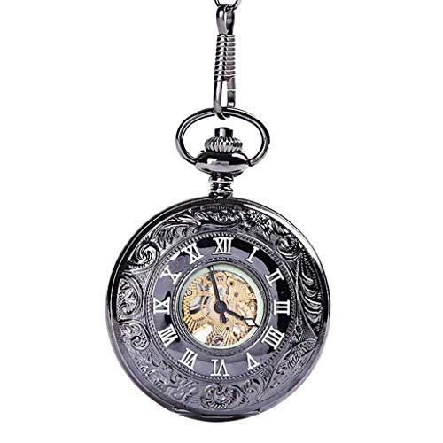SCDZS Bolsillo, Reloj de Cuarzo de la Vendimia Modelo Retro números Reloj de Bolsillo for los Padres de Navidad Día Negro Regalo