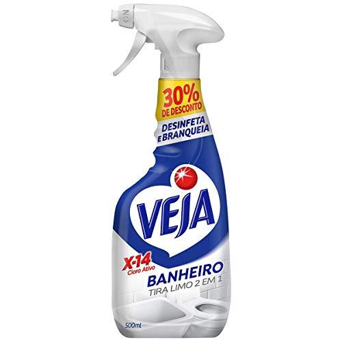 Limpador Spray Banheiro X14 Tira Limo 500 Ml Embalagem Econômica, Veja