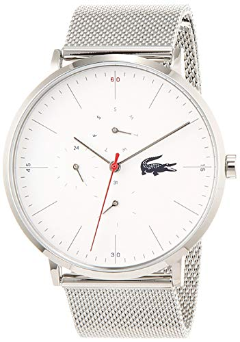 Lacoste Herren Multi Zifferblatt Quarz Uhr mit Edelstahl Armband 2011025
