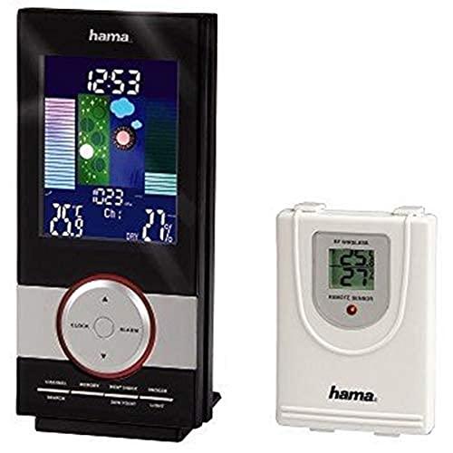 Hama EWS 1100 Station météo avec base et détecteur extérieur sans fil Noir