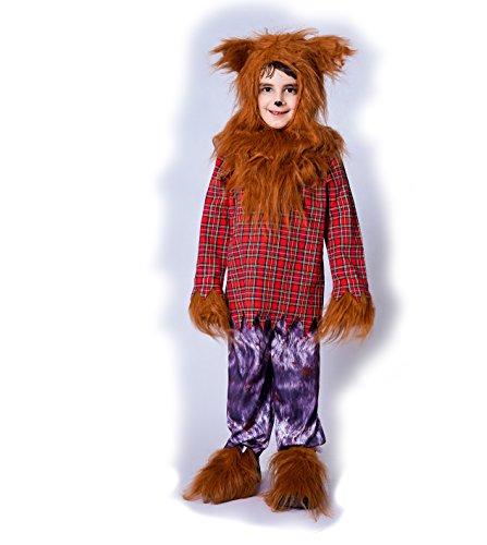 SEA HARE Disfraz de Disfraz de Halloween de Lobo Animal para niño (S:4-6 años)