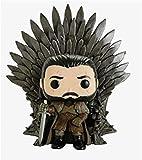 YanZiHuFuPin Game Thrones Pop JonSnow Iron Throne Figura de Vinilo en Caja