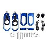 wjyfexble Accesorios de Motocicleta Piezas Ajustador de Cadena Cadena Tensor CNC Aluminio para Yamaha YZF R6 2008-2015 2016 2017 (Color : Blue)