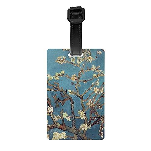 My s Artistic Van Gogh Almendra Ramas etiqueta de equipaje Protección de privacidad Bolsa de viaje etiqueta Maleta