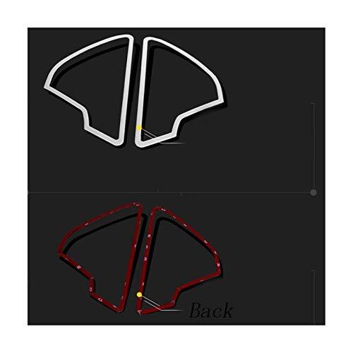 OutdoorKing Accesorio Interior para Audi A6 C7 2012 2013 2014 2015 2016 2017 Puerta De Coche Audio Altavoz Cubierta Embellecedor Bugle Acero Inoxidable Lentejuelas Anillo Estéreo Tira