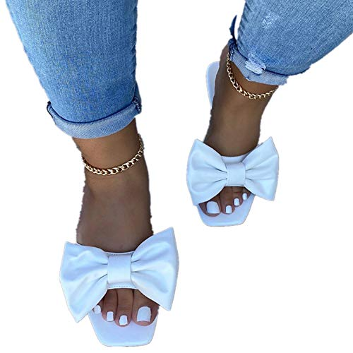 Eduavar Rope Sandals for Women Strappy Womens Elastic Flat Sandals Classic Open Toe Summer Shoes