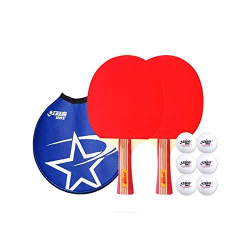 Amazing Deal HUIJUNWENTI Table Tennis Racket Set Horizontal Shot/Pen-Hold Double-Sided Anti-Adhesive...