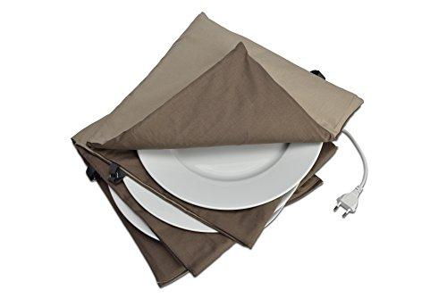 Solis Tellerwärmer, Bis 10 Teller mit 32 cm Durchmesser, Waschbar, Automatische Wärmeregulierung, Maxi Gourmet Tellerwärmer, Beige/Choco