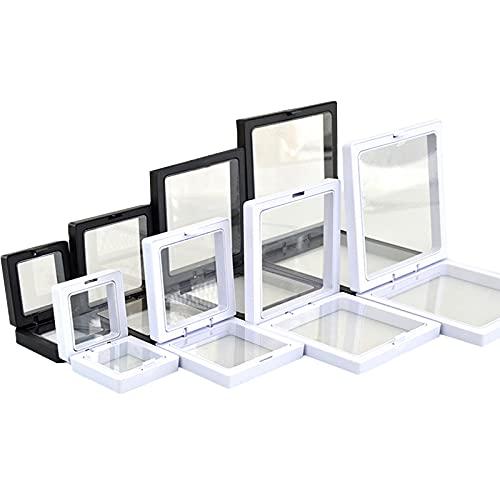 Display Box Frame Estante De La Joyería Portátil Expositor Collares para Guardar Collares Pulseras Joyas Transparente PE Film Joyeria Soporte De Exhibicion,Black and White,Large Size
