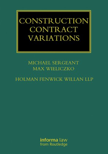 Construction Contract Variations (Construction Practice Series) (English Edition)