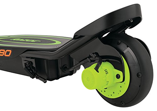 Razor Power Core E90 Electric Scooter with hub motor, push-button throttle, for kids 8+