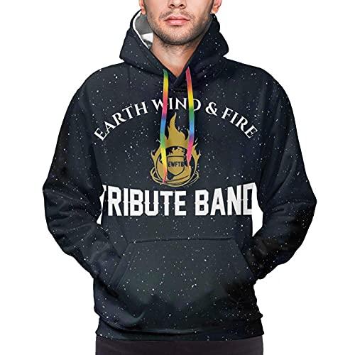 hengtaichang Earth Wind & Fire Mens Hoodie Sweatshirt 3D Printed Hooded Pullover