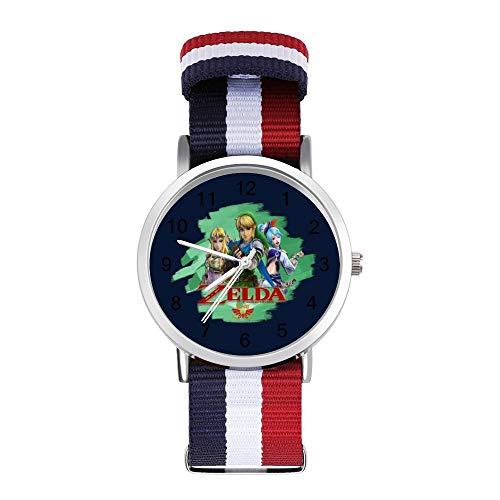 Legend of Zelda Hyrule Warrior Freizeit-Armbanduhr, geflochtene Uhr mit Skala